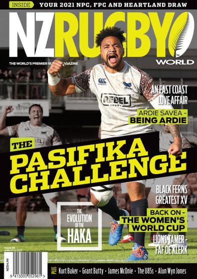 NZ Rugby World (NZ) magazine cover