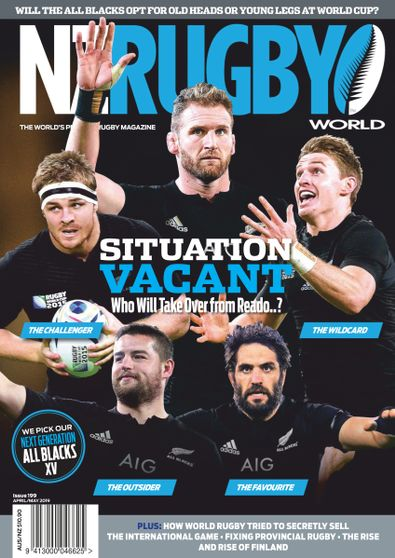NZ Rugby World (NZ) magazine cover