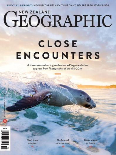 New Zealand Geographic (NZ) magazine cover