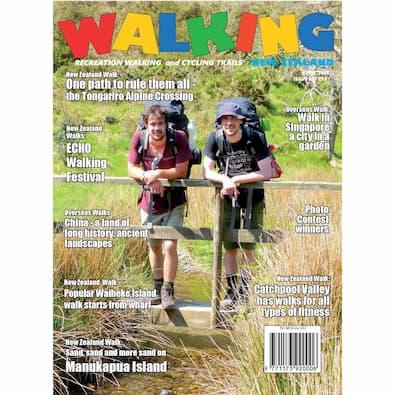 Walking New Zealand (NZ) magazine cover