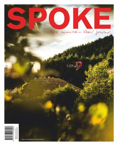 Spoke: The Mountain Bikers Journal (NZ) magazine cover