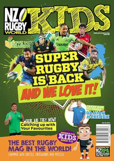 NZ Rugby World Kids (NZ) magazine cover