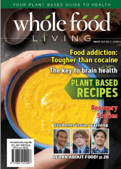 Whole Food Living (NZ) magazine cover