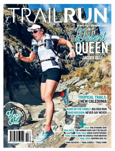 Trail Run Magazine cover