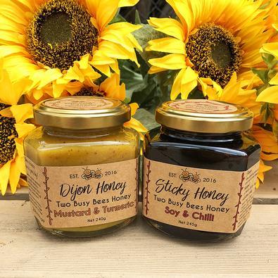 Two jar Sticky honey Dijon gourmet box cover