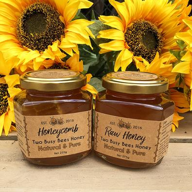 Two jar Honeycomb gourmet box cover