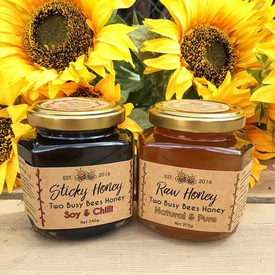 Two jar honey dressing gourmet box cover
