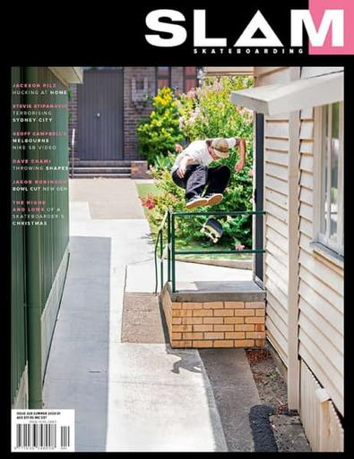 SLAM SKATEBOARDING magazine cover