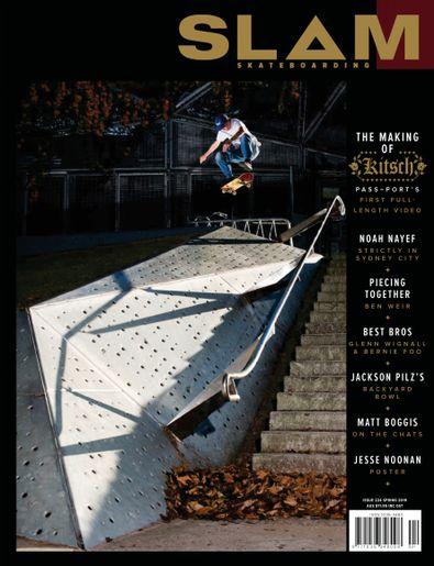 SLAM SKATEBOARDING magazine cover