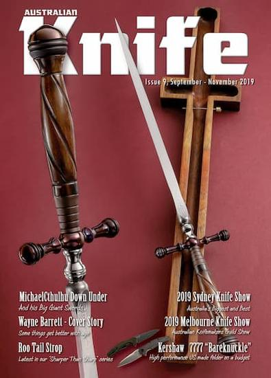 Australian Knife Magazine cover