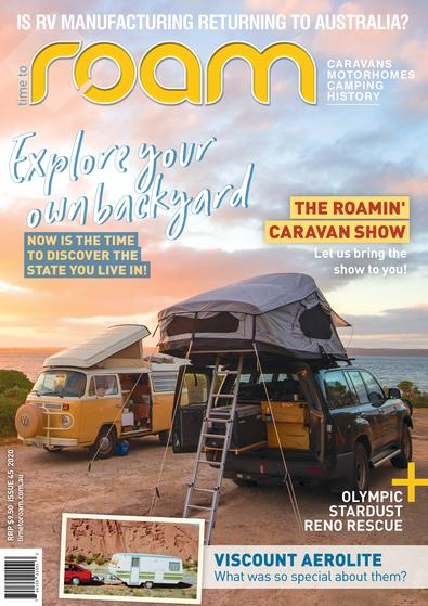 Time to Roam Caravan Magazine cover