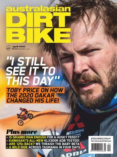 Australasian Dirt Bike magazine cover