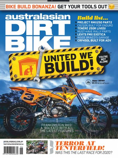 Australasian Dirt Bike magazine cover