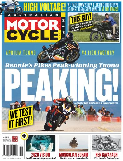 Australian Motorcycle News magazine cover