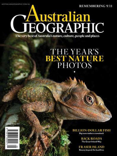 Australian Geographic magazine cover
