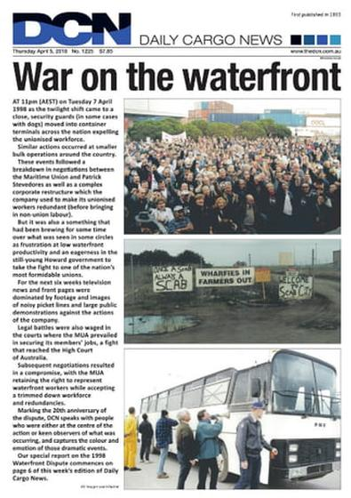 Daily Cargo News newspaper cover