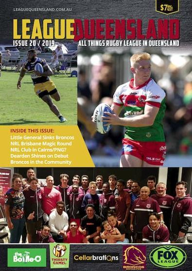 League Queensland magazine cover