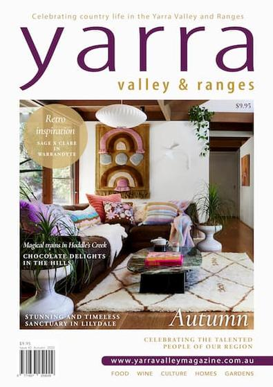 Yarra Valley and Ranges Country Life magazine cover