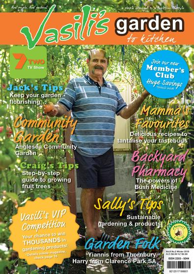 Vasili's Garden to Kitchen Magazine cover