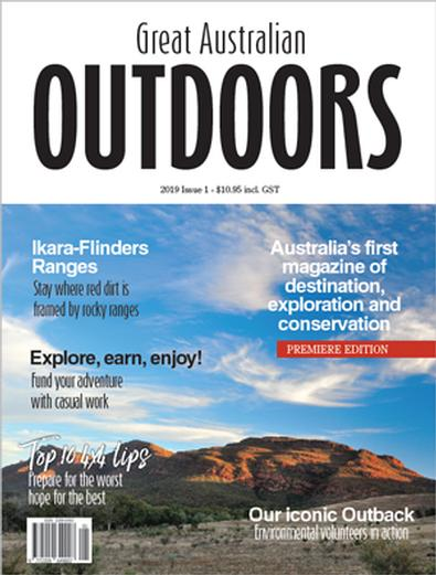 Great Australian Outdoors, Collector's 1st Edition magazine cover