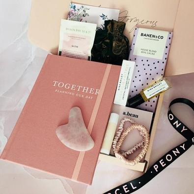 Peony Parcel Engagement Congratulations Box cover
