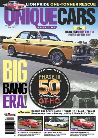 Unique Cars magazine cover