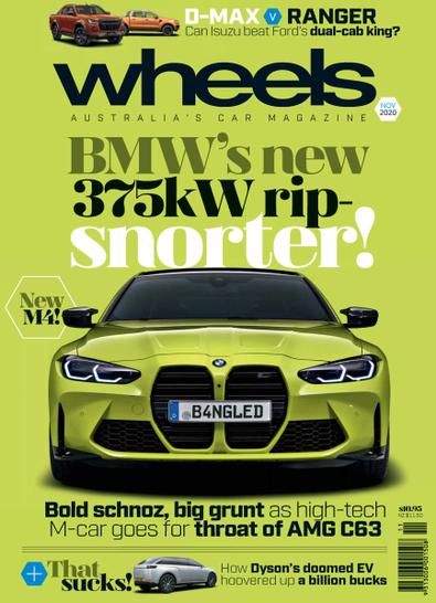 WHEELS magazine cover