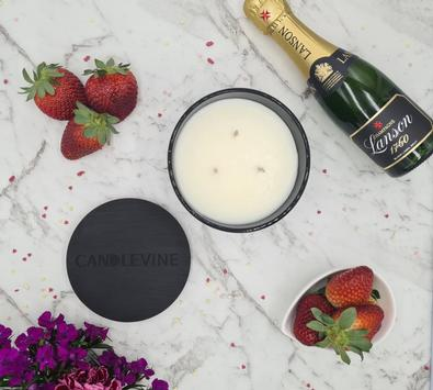 Strawberry Champers Premium Soy Wax XL Candle cover