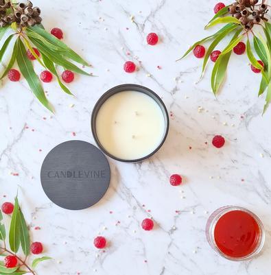 Aussie Raspberry Bush Premium Soy Wax XL Candle cover
