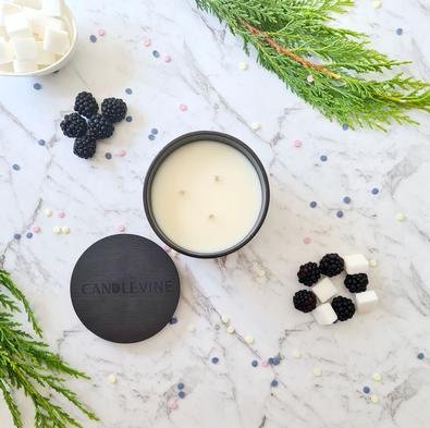 Black Raspberry Sugar Premium Soy Wax XL Candle cover
