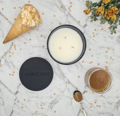 Caramel Ice Cream Premium Soy Wax XL Candle cover