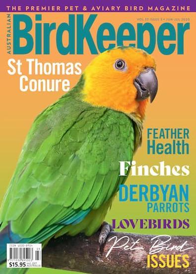 Australian BirdKeeper magazine cover