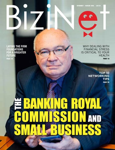 BiziNet Magazine cover