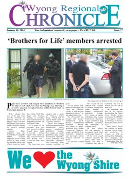 Wyong Regional Chronicle newspaper cover