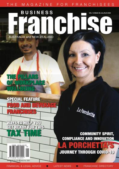 Business Franchise Magazine July/August 2020 cover