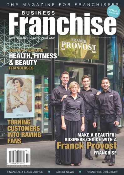Business Franchise Magazine Nov/Dec 2019 cover