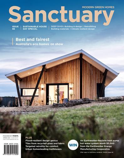 Sanctuary: modern green homes magazine cover