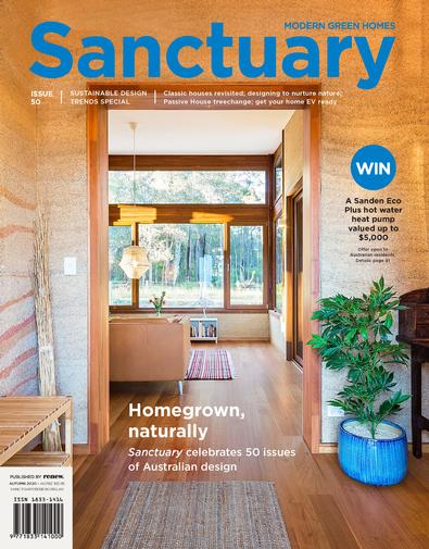 Sanctuary: modern green homes magazine cover