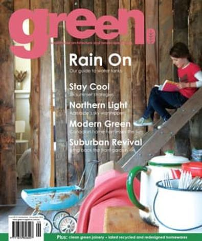 green Issue No. 6 magazine cover