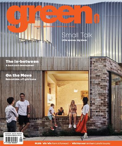 green magazine cover