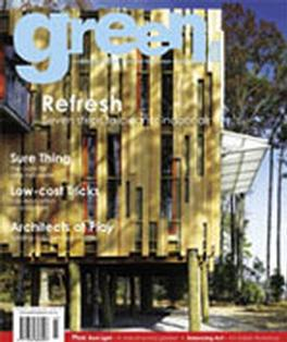 green Issue No. 8 magazine cover