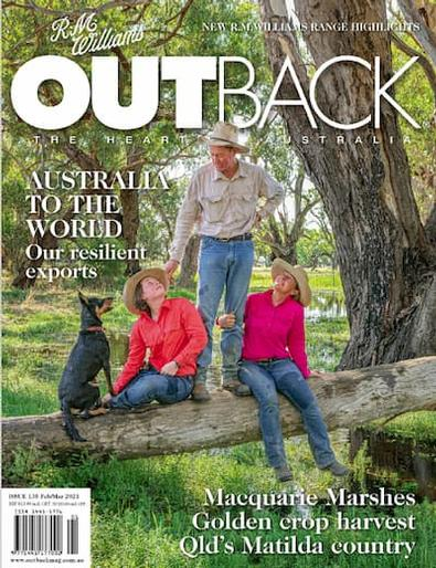 R.M. Williams OUTBACK Magazine cover