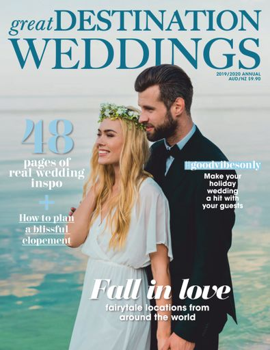 Great Destination Weddings magazine cover