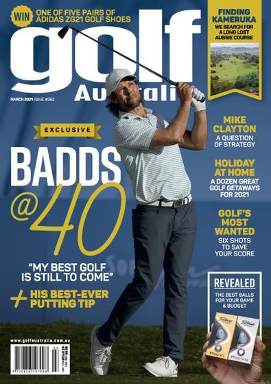 Golf Australia magazine cover