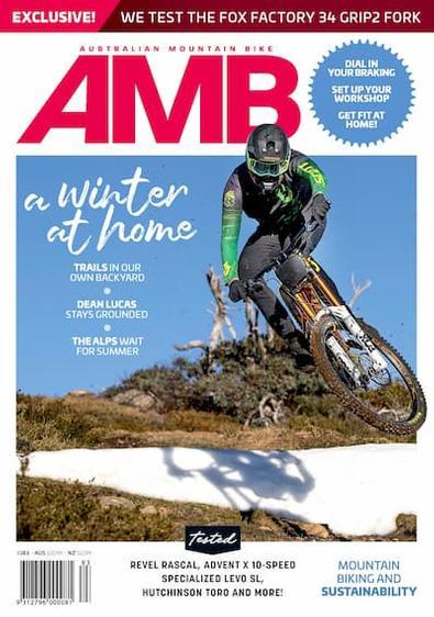 Australian Mountain Bike magazine cover
