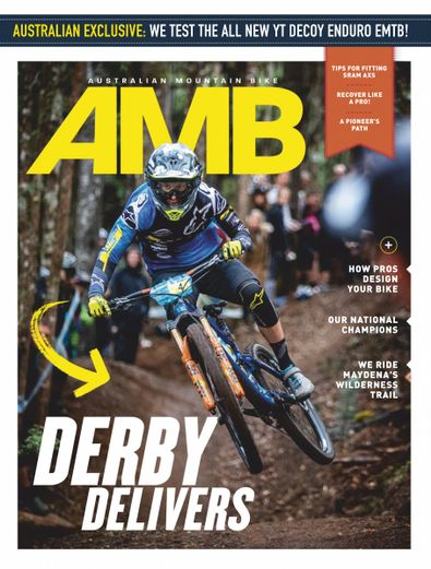 Australian Mountain Bike magazine cover