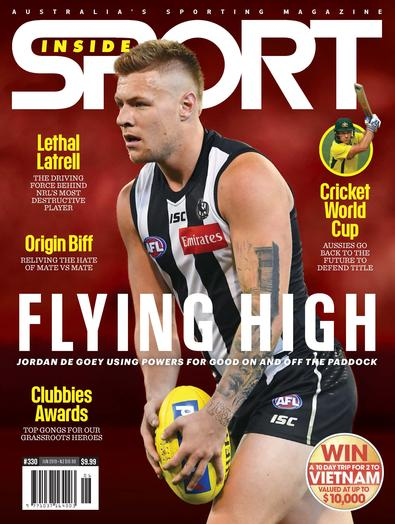 Inside Sport magazine cover