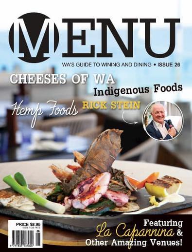 Menu Magazine cover