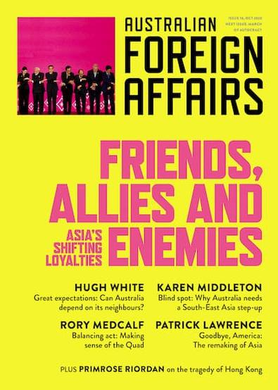 Australian Foreign Affairs magazine cover
