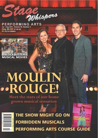 Stage Whispers Performing Arts Magazine cover